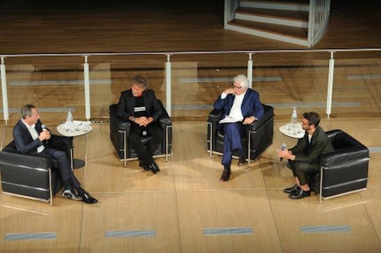Stefano Sassi, Renzo Rosso and Patrizio Bertelli in conversation with Simone Marchetti | Source: Courtesy