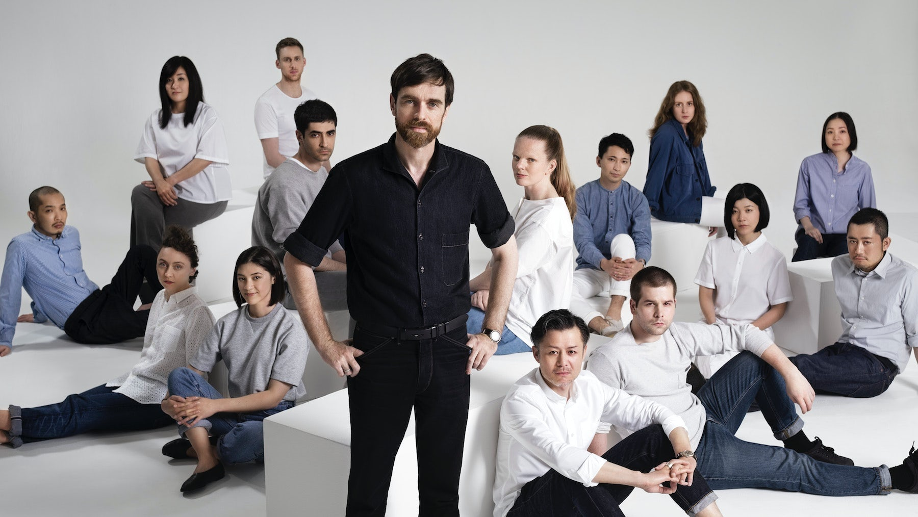 Christophe Lemaire and the Uniqlo U team | Source: Courtesy