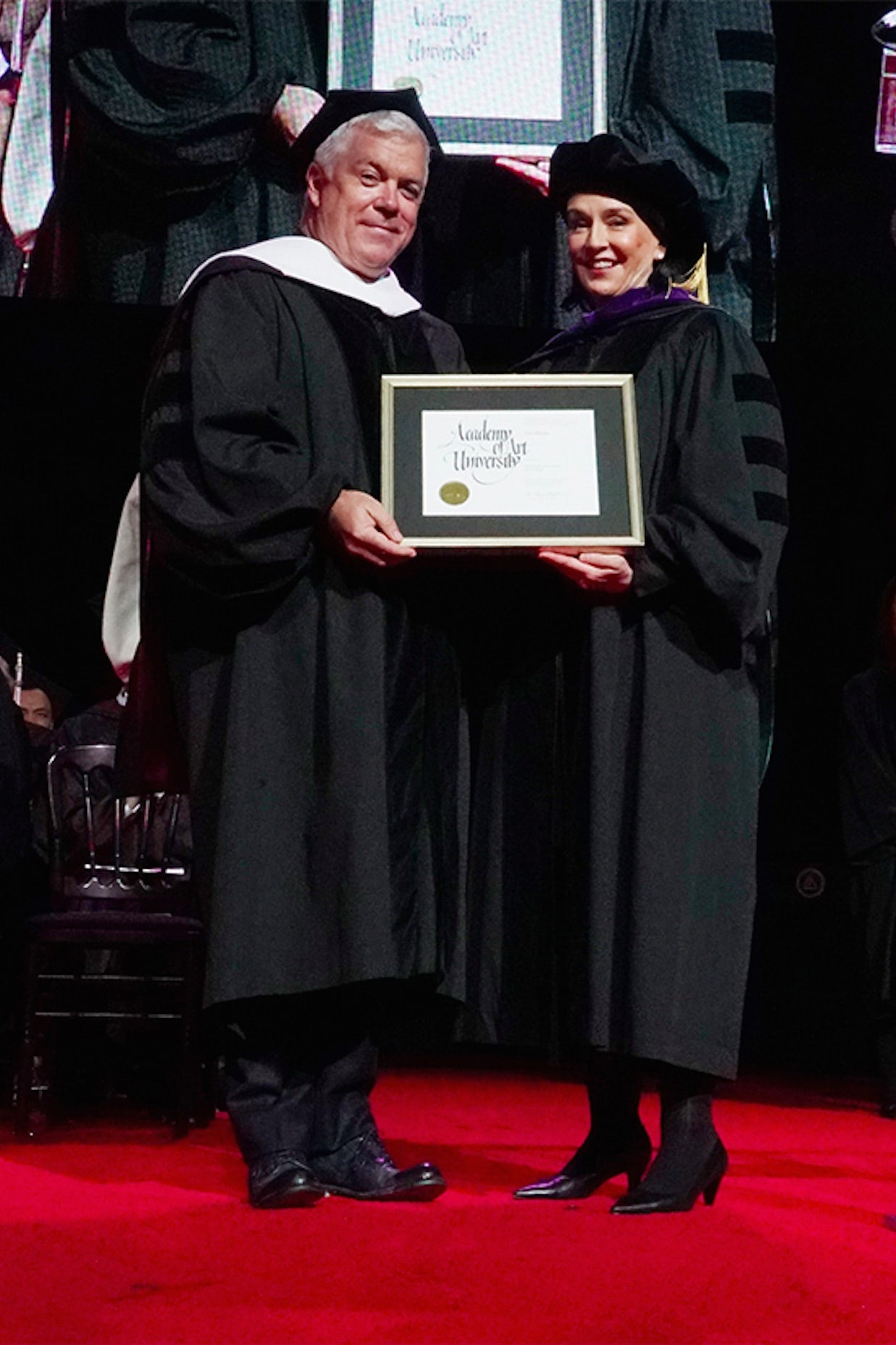 Tim Blanks receiving his honorary doctorate | Photo: Courtesy