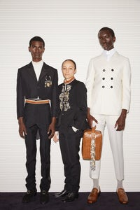 Grace Wales Bonner with two models | Source: LVMH