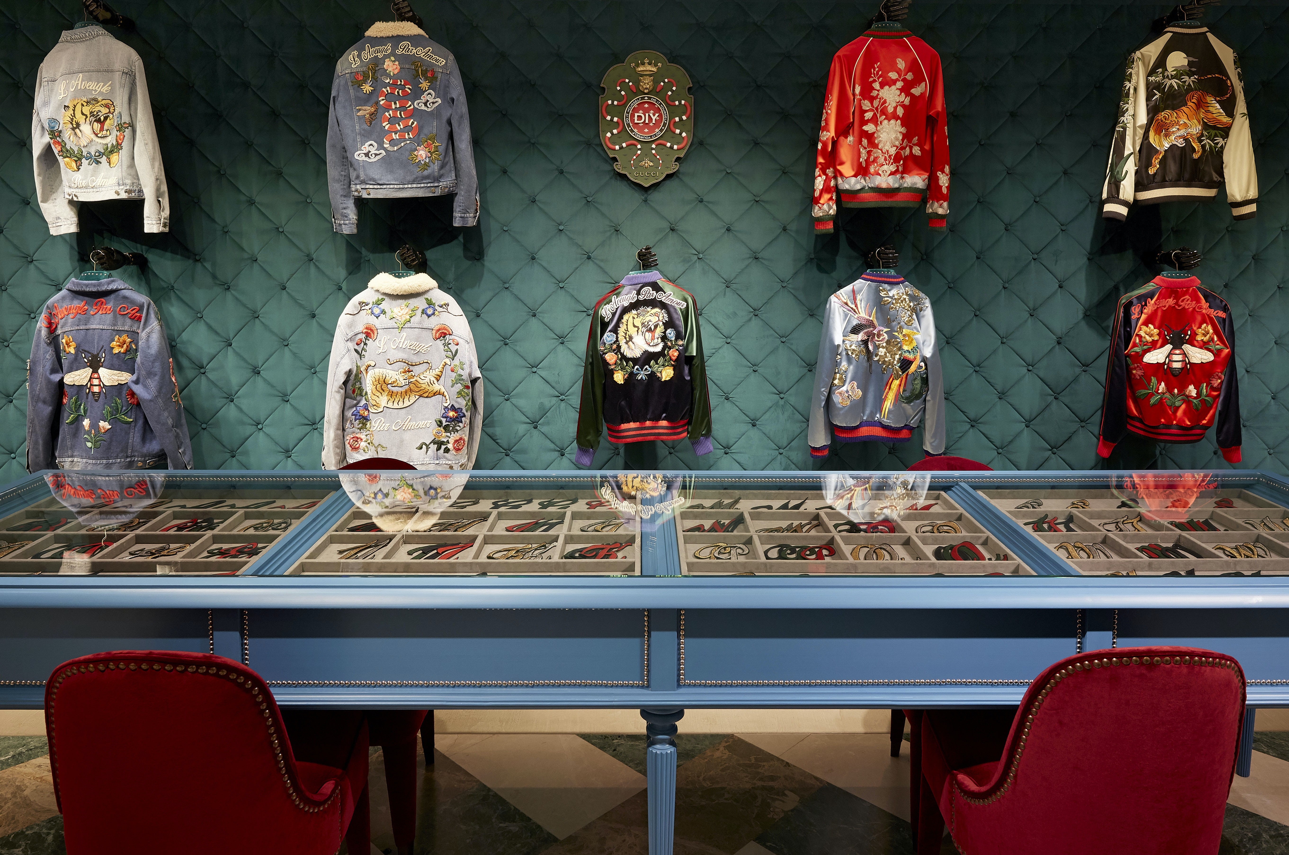Gucci DIY Display at the flagship on via Montenapoleone | Source: Courtesy