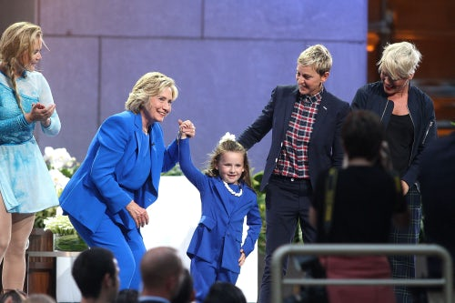 Hillary Clinton attends the Ellen Show Season 13 Premiere | Source: Getty