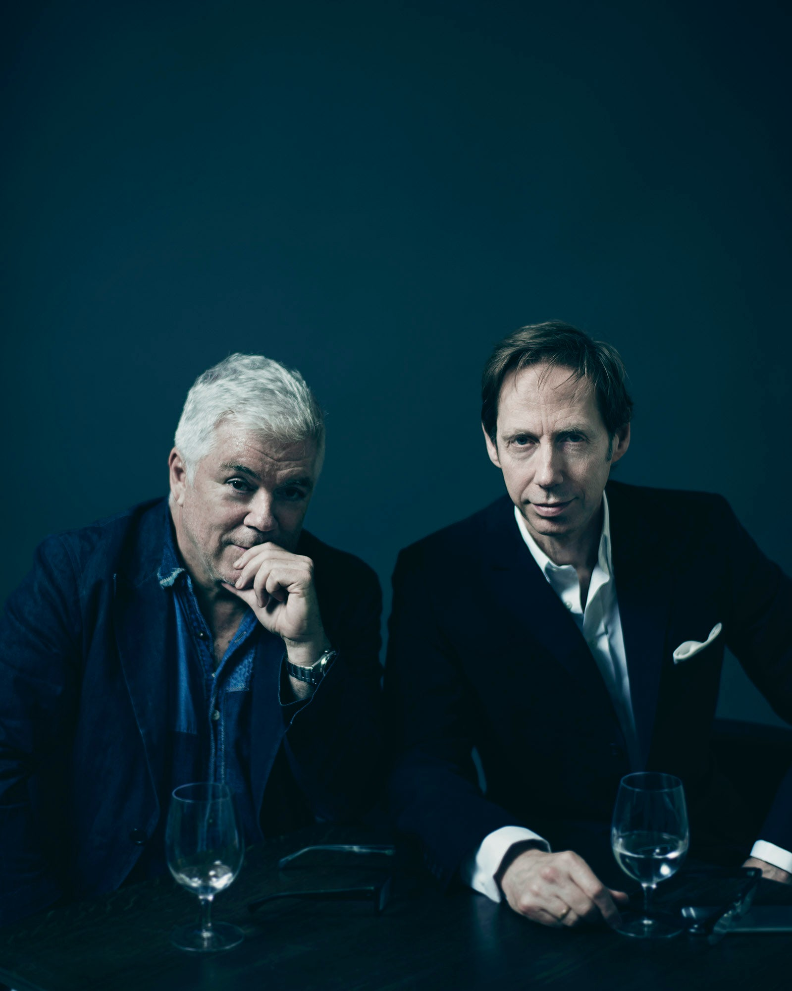 Tim Blanks and Nick Knight | Photo: Benjamin McMahon for BoF