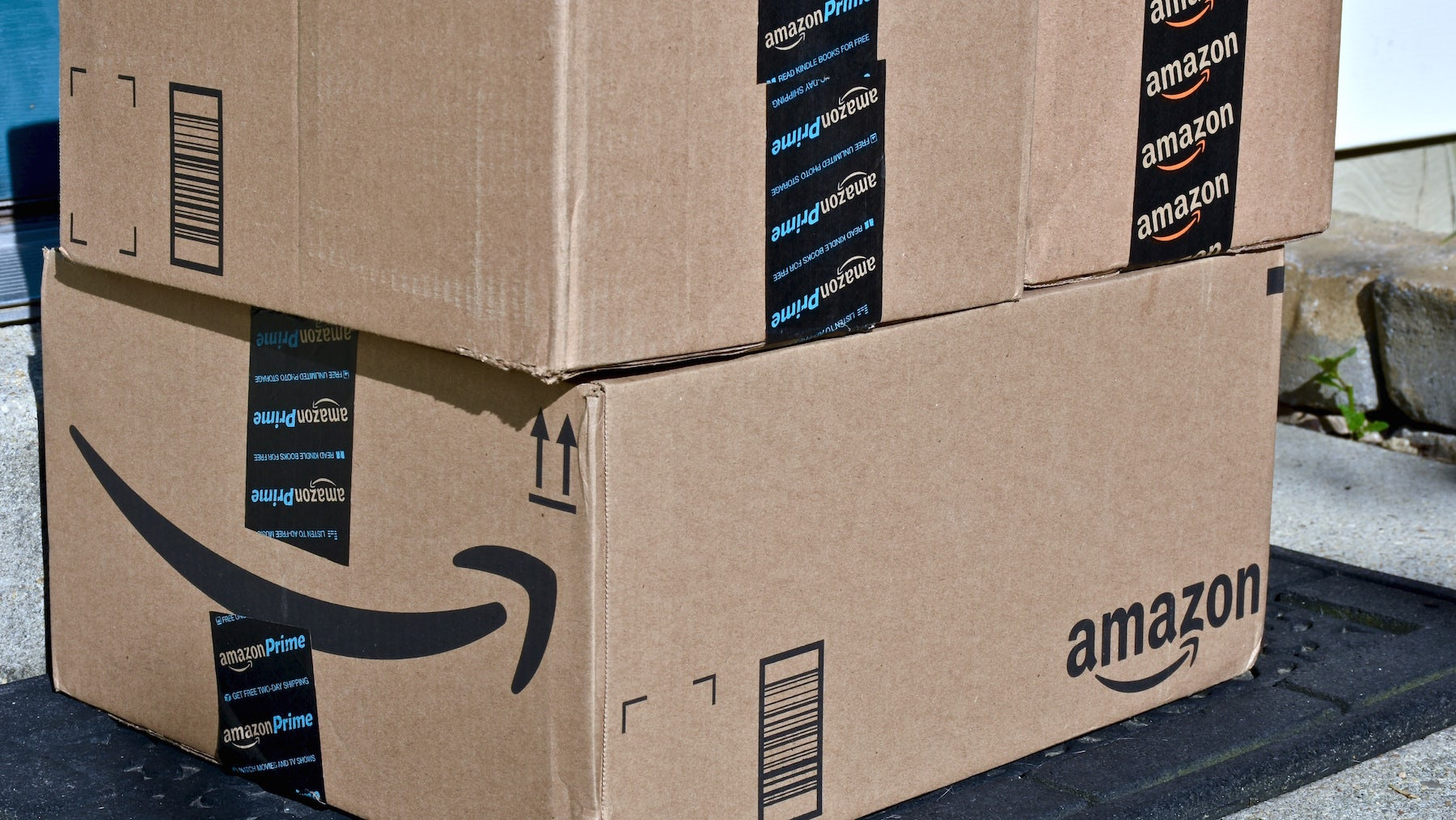 Amazon boxes | Source: Shutterstock