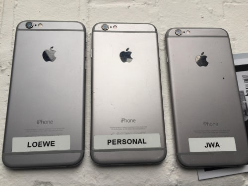 Jonathan Anderson's Iphones | Source: Courtesy