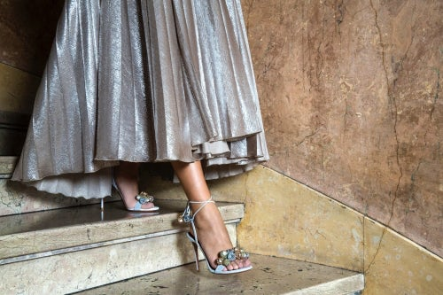 Aquazzura Disco Thing Sandal | Source: Courtesy | Photographer: Tamu McPherson