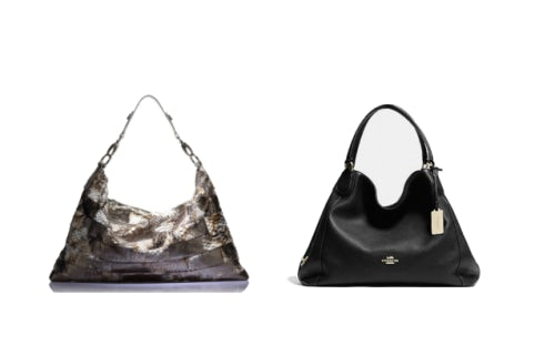 """A bag by CocoMojo compared to Coach's """"Edie"""" tote 
