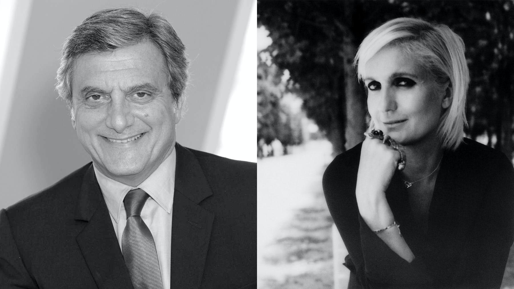 Sidney Toledano and Maria Grazia Chiuri | Source: Courtesy/Photo: Maripol