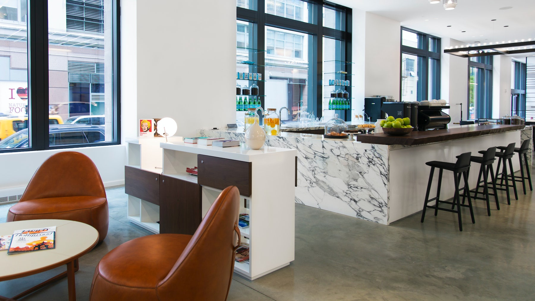 'Cadillac House', the car brand's retail space, features a coffee shop and art gallery | Source: Gensler