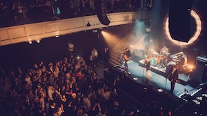 British band The Kaiser Chiefs play a live show inside Burberry's Regent Street flagship | Source: Burberry