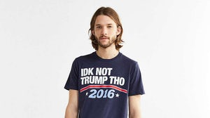"""UO's """"IDK NOT TRUMP THO"""" t-shirt 