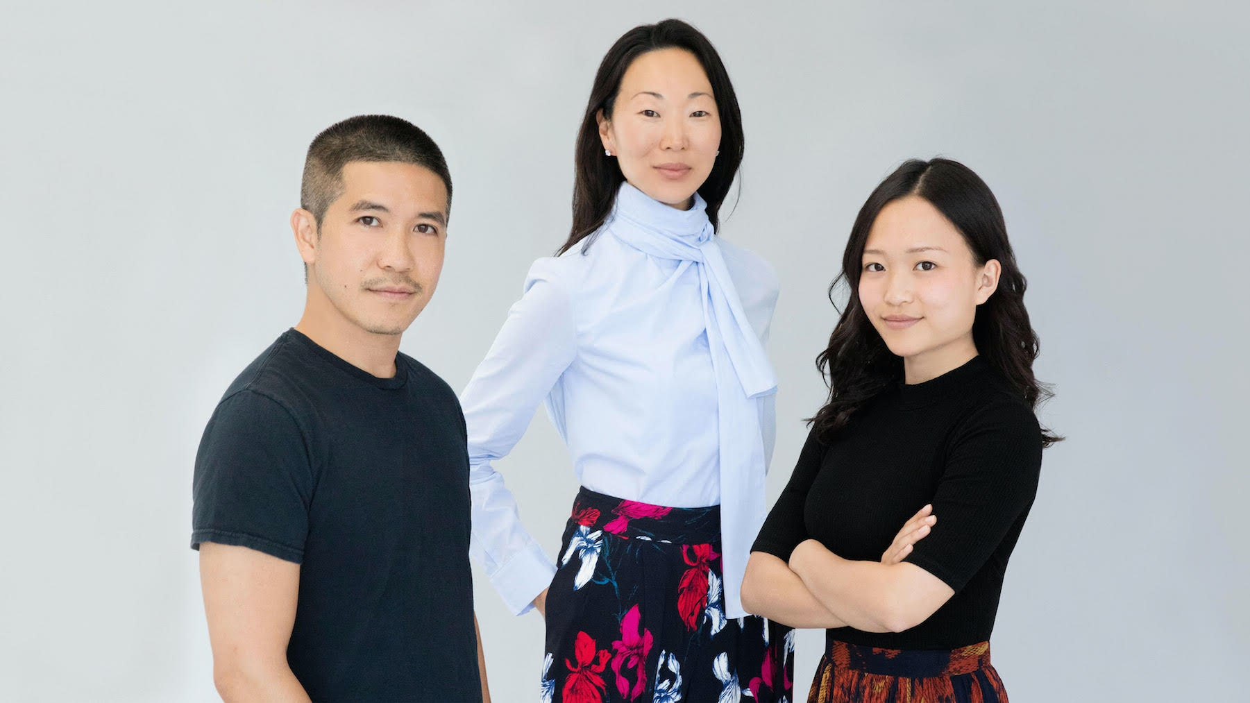 Chief creative officer Thakoon Panichgul, president Lucy Yi and executive chairman Vivian Chou | Source: Courtesy of Thakoon
