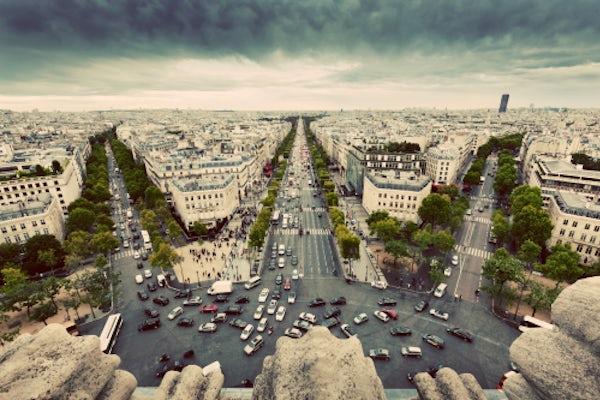 Aerial view of Paris|  Source: Shutterstock