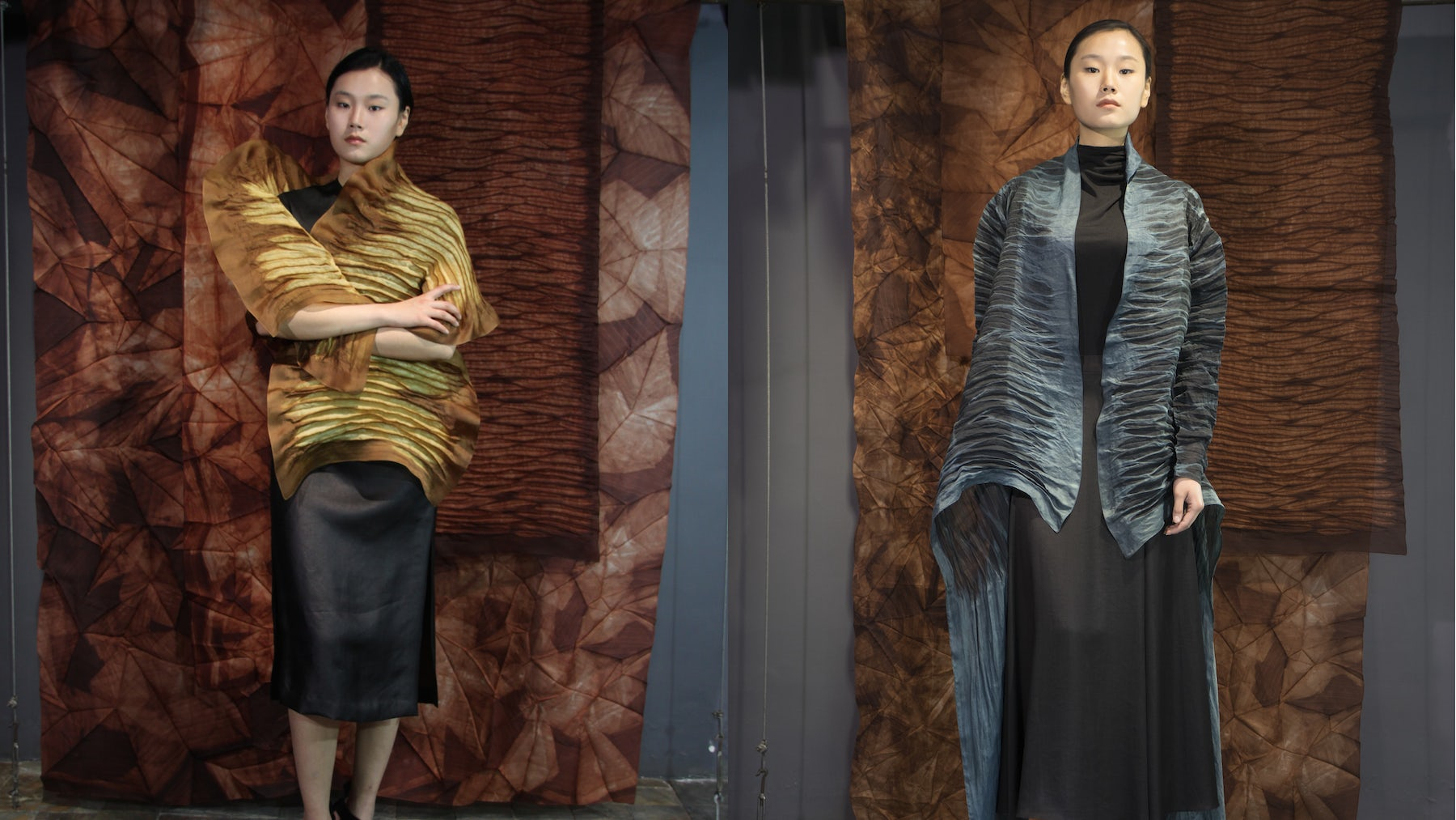 Looks by Rechenberg, created using traditional tea silk dyeing methods  | Source: Rechenberg