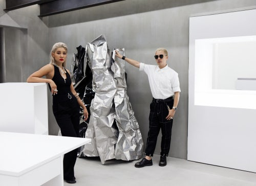 Verbal and Yoon in the new Ambush® Workshop store in Tokyo | Photo: Dan Bailey