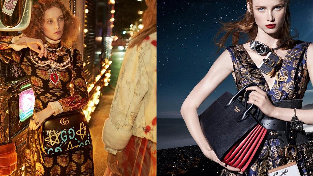 prada brown suede handbag - Gucci Among World's Hottest Fashion Brands, While Prada Cools ...