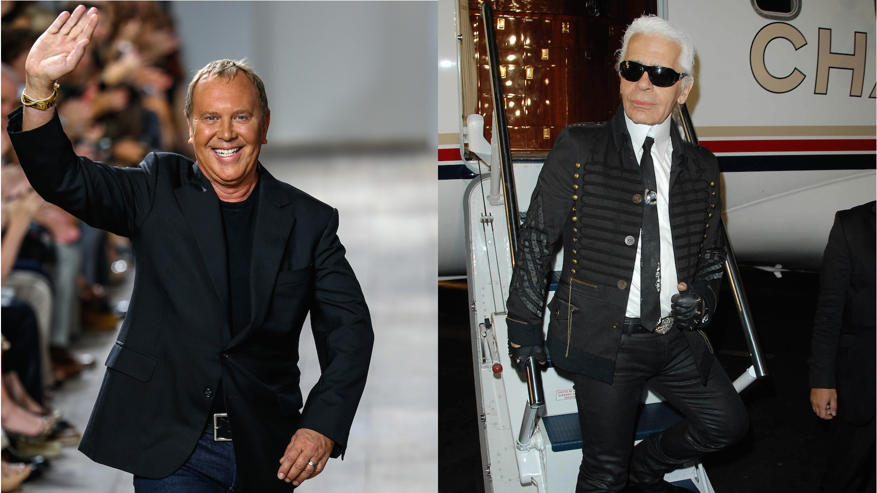 (R-L) Michael Kors and Karl Lagerfeld | Source: Shutterstock
