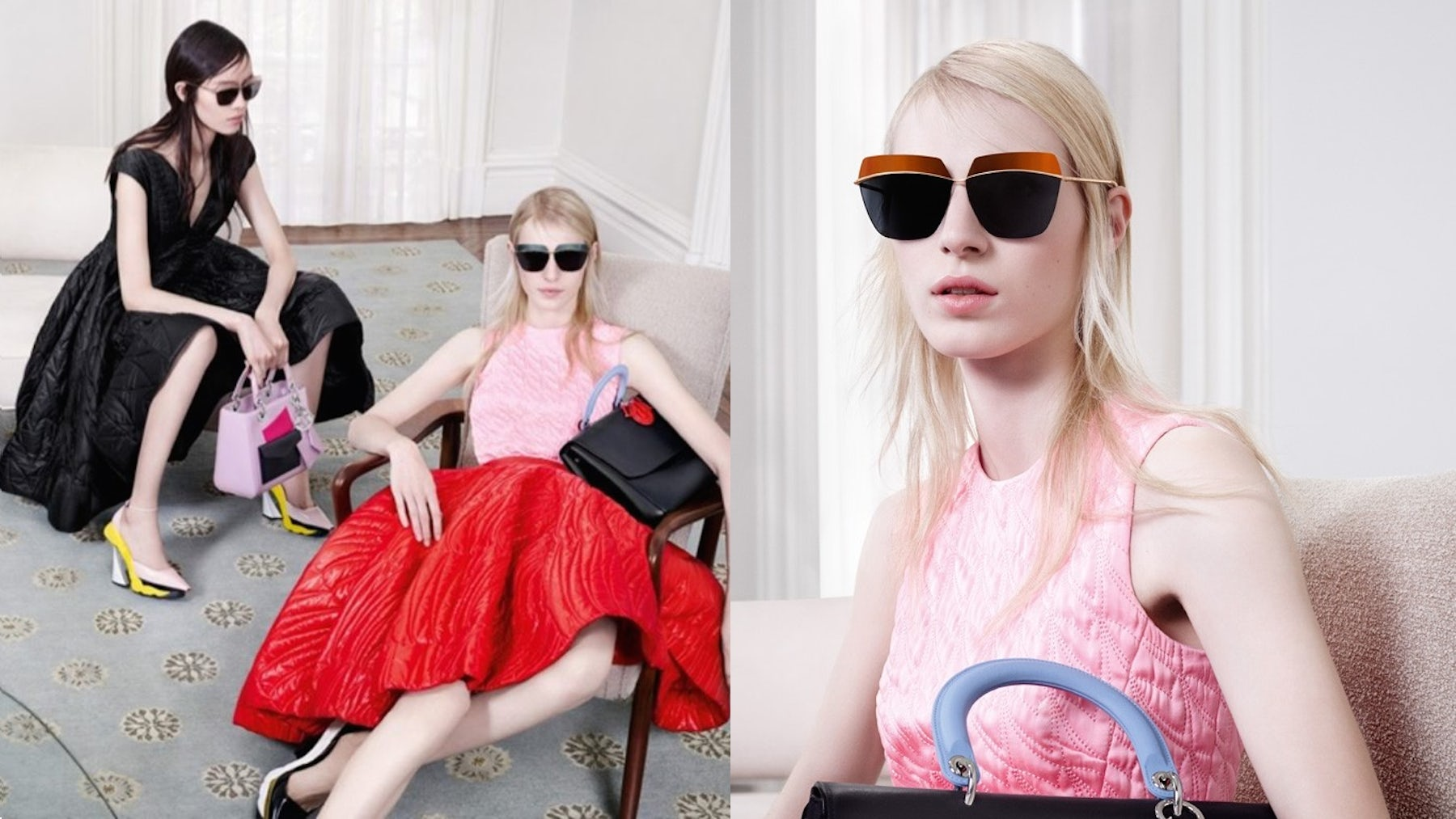 Dior's Autumn/Winter 2014 ready-to-wear campaign, showcasing the brand's eyewear range | Source: Dior