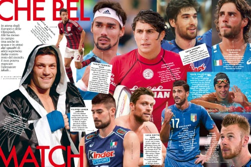 A round-up of the sexiest male Olympians in Elle Italy's July issue | Source: Courtesy Elle Italy