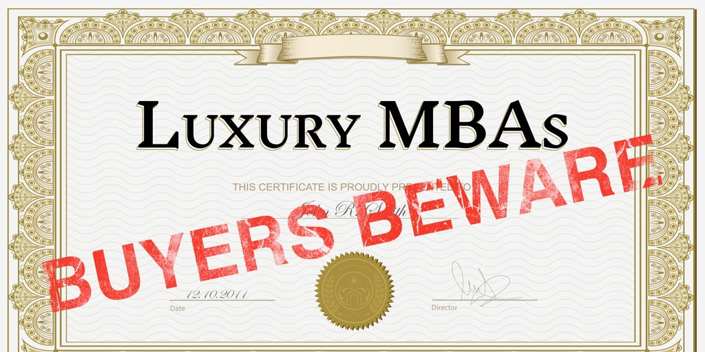 Luxury MBAs, Buyers Beware | Education, The State of