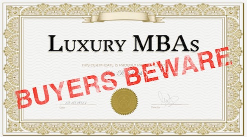 Luxury MBAs, Buyers Beware   Education, The State of