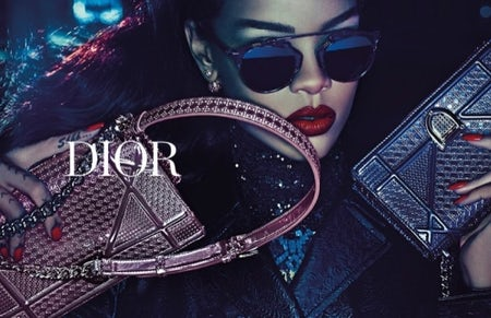"Rihanna in Dior's 2015 ""Secret Garden"" campaign   Source: Dior"