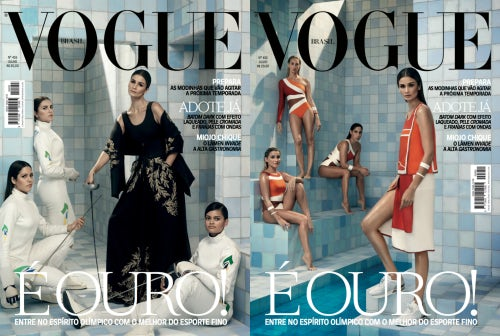 Athletes and models on the cover of Vogue Brasil | Photo: Henrique Gendre