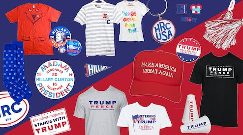 83d9423766c Inside the Business of Trump s Trucker Hats and Clinton s Pantsuit Tees