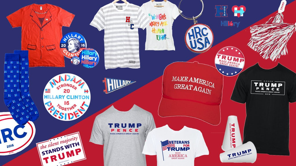 Inside The Business Of Trumps Trucker Hats And Clintons Pantsuit - Deplorable trump supporters hats with us map of red states