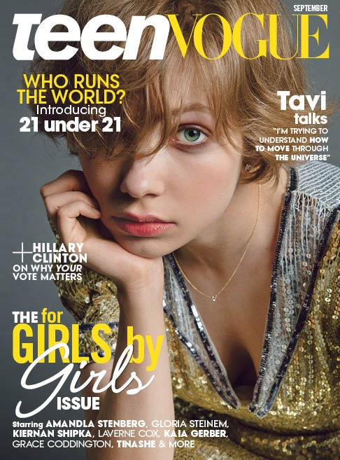 Tavi Gevinson on Teen Vogue's September issue | Photo: Inez and Vinoodh