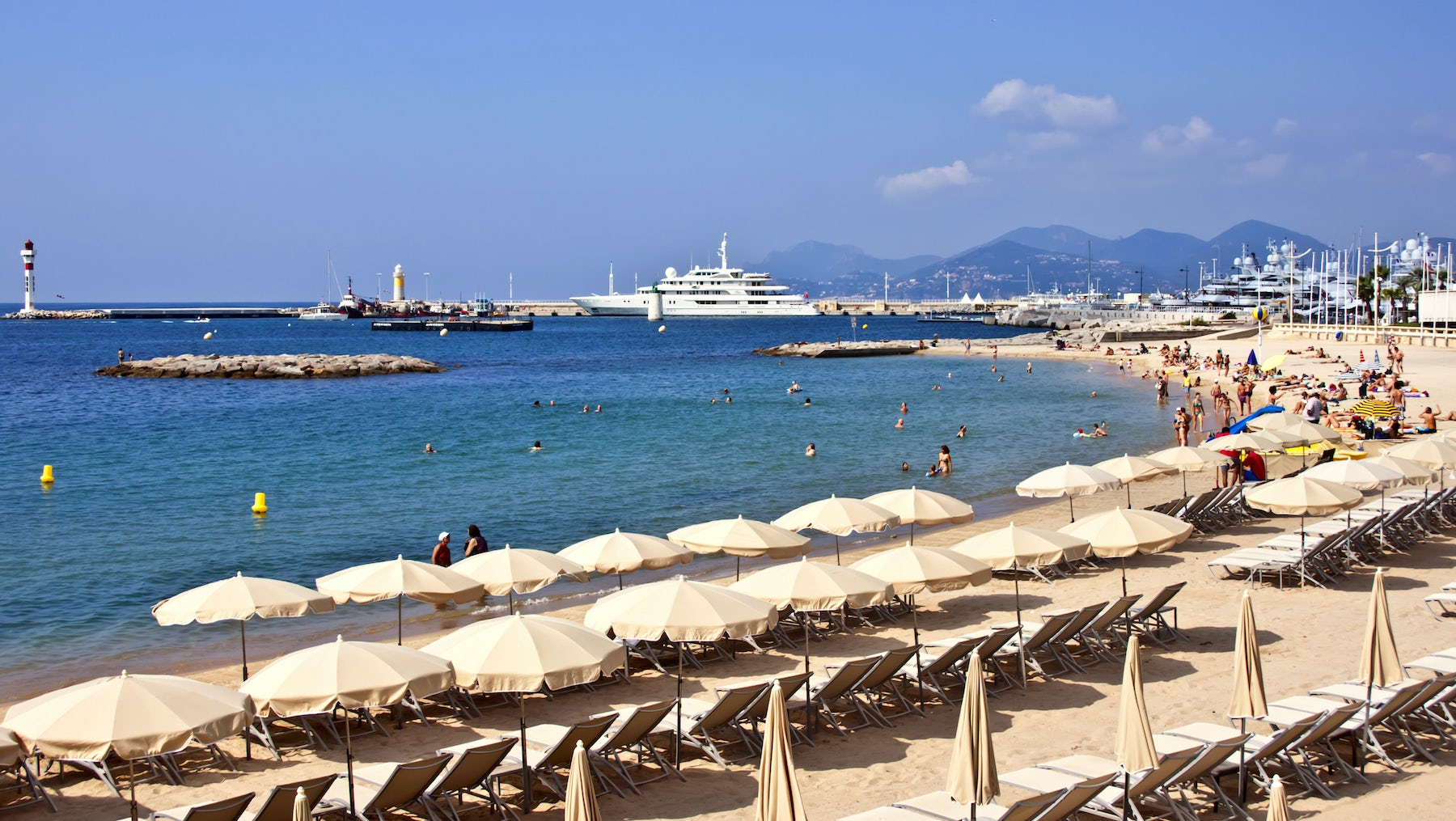 Cannes beach   Source: Shutterstock