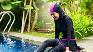 Woman wearing a burkini | Source: Shutterstock