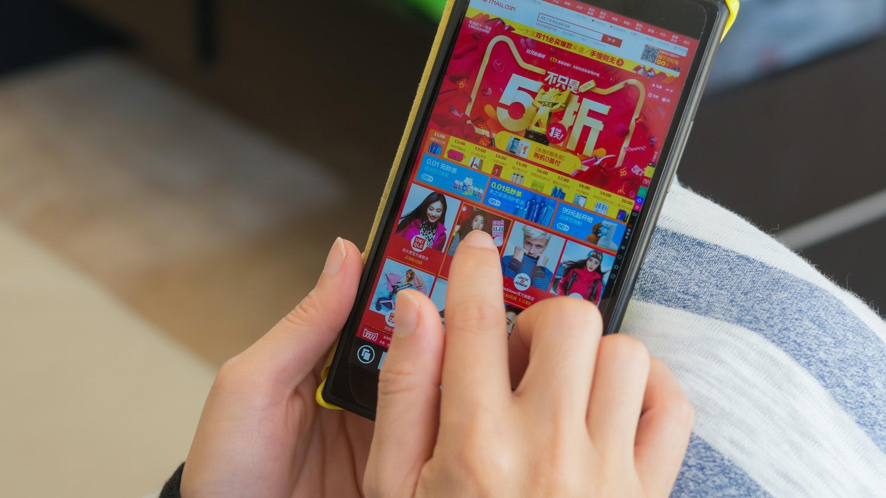 Taobao mobile app   Source: Shutterstock