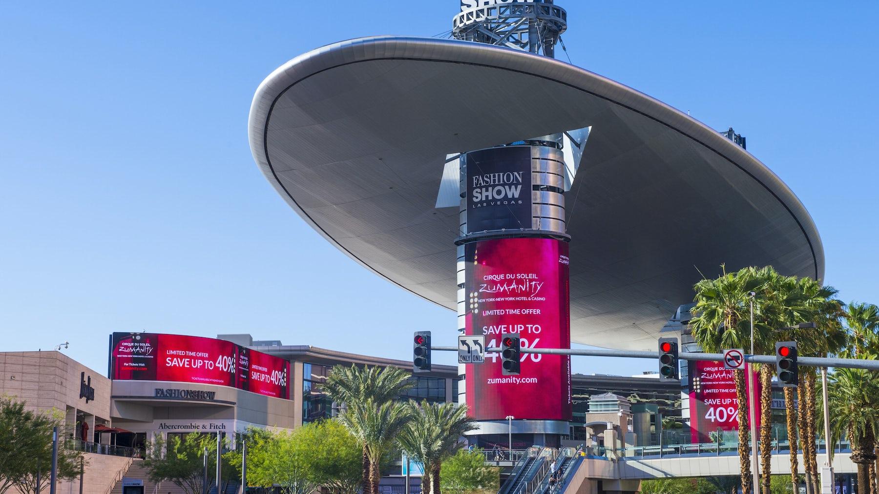 Fashion Show Mall, Las Vegas   Source: Shutterstock
