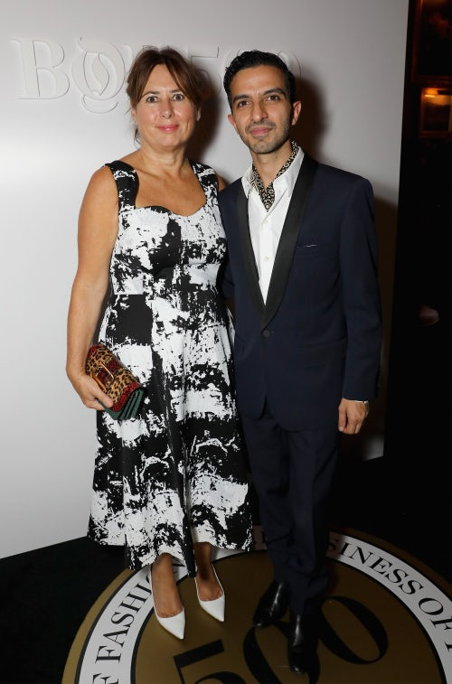 Alexandra Shulman and Imran Amed | Photo: Dave Bennett