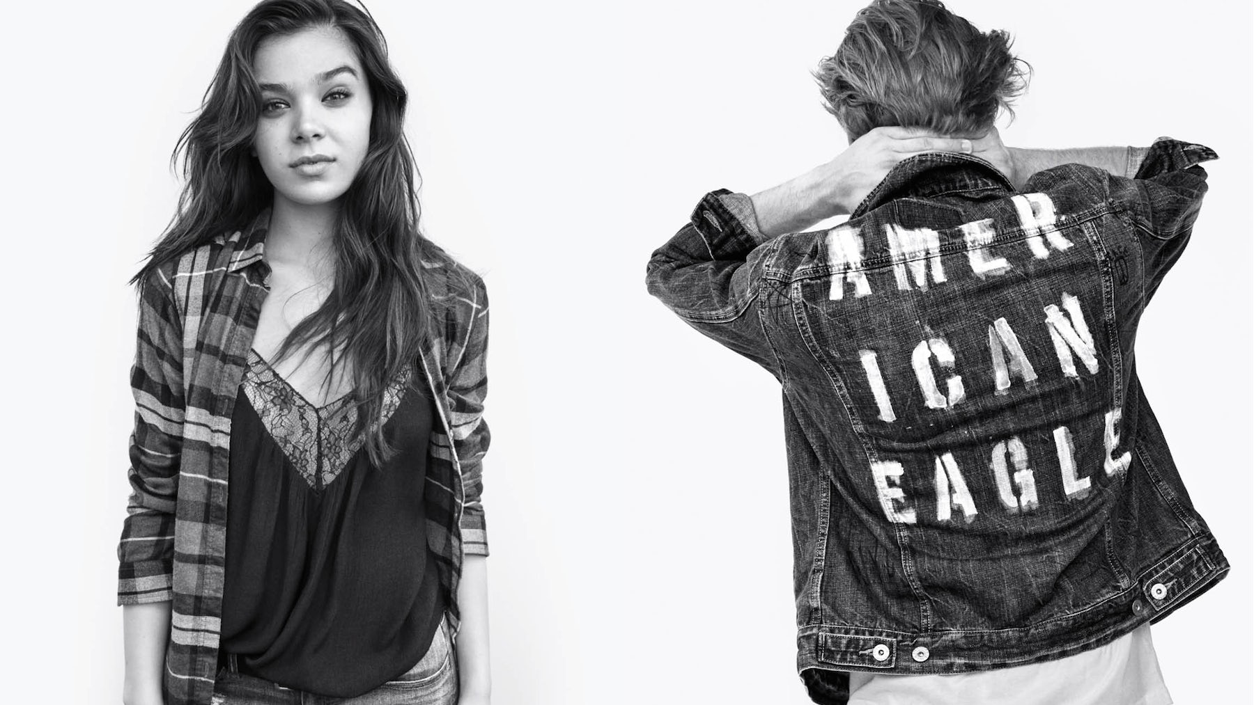 Hailee Steinfeld and Neels Visser in American Eagle's #WeAllCan campaign | Source: Courtesy