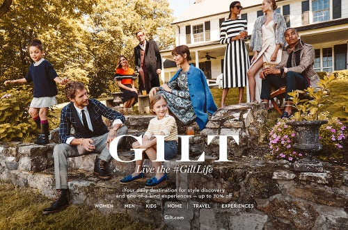 #GiltLife autumn advertising campaign | Source: Courtesy