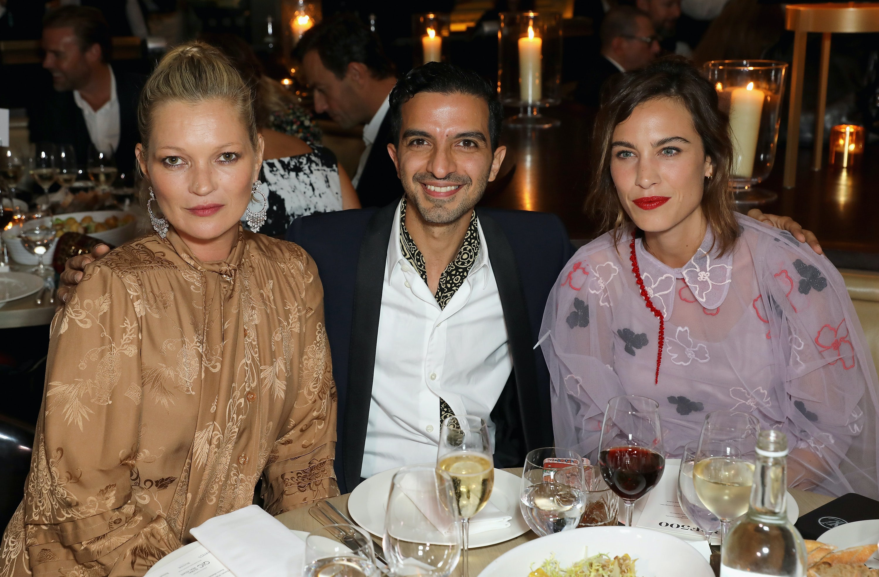 Kate Moss, BoF founder and CEO Imran Amed and Alexa Chung | Source: InDigital