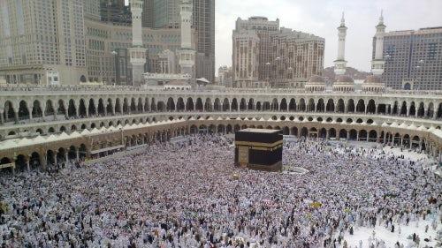 Pilgrims in Mecca during Hajj   Source: Flickr/Omar Chatriwala