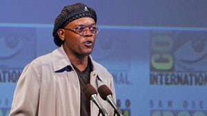Samuel L Jackson wears a Kangol hat at Comic Con | Source: Wikimedia Commons