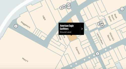 An American Eagle store opposite H&M at the Westfield Annapolis mall | Source: Westfield