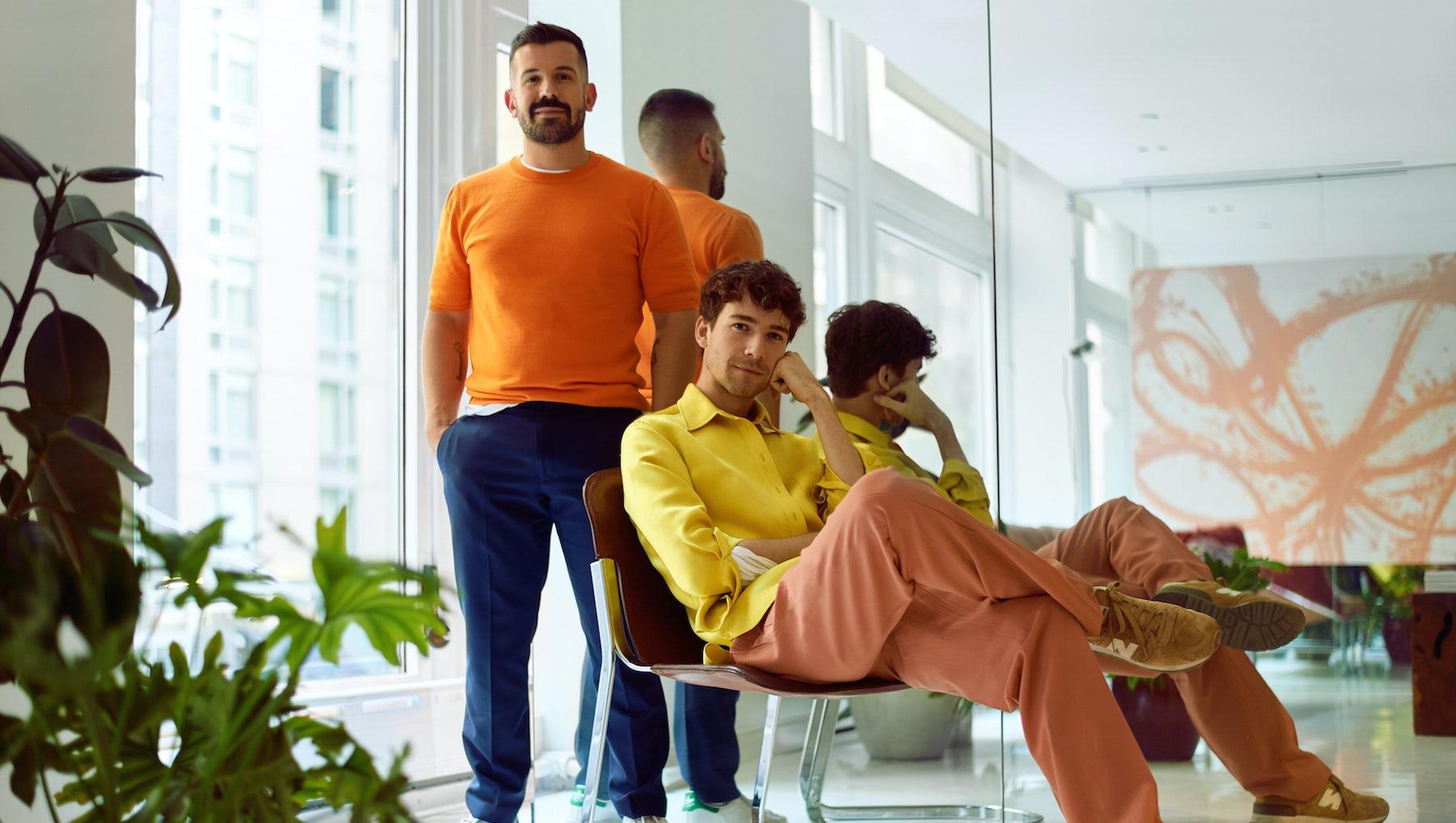 (L-R)  Joey Laurenti and Sander Lak in the Sies Marjan atelier | Photo: Richie Talboy for BoF