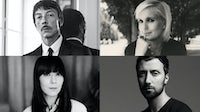 Clockwise from top left: Pierpaolo Piccioli, Maria Grazia Chiuri, Bouchra Jarrar, Anthony Vaccarello | Source: Courtesy