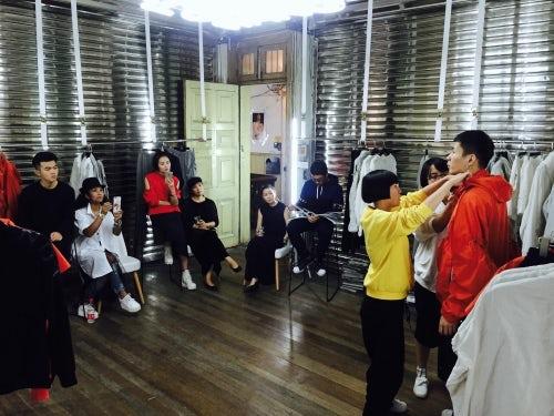 Feng Chen Wang自己举办的Showroom   图片来源:对方提供
