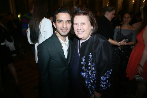 Imran Amed and Suzy Menkes | Photo: Getty