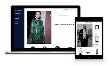 The new Style.com e-commerce site   Source: Courtesy