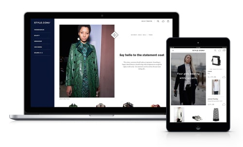 The new Style.com e-commerce site | Source: Courtesy