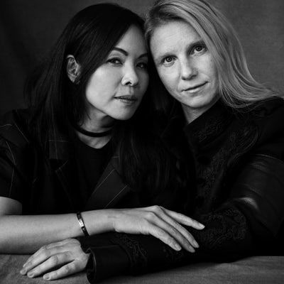 Chitose Abe and Katie Hillier   Photo: Victor Demarchelier