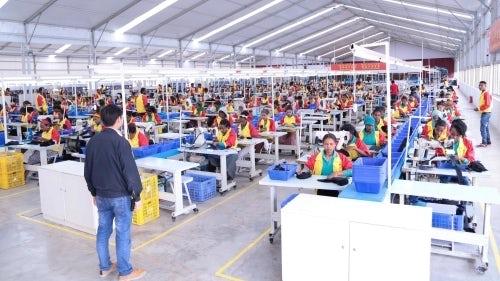 The Huajian shoe factory near Addis Ababa, Ethiopia | Photo: Aida Muluneh