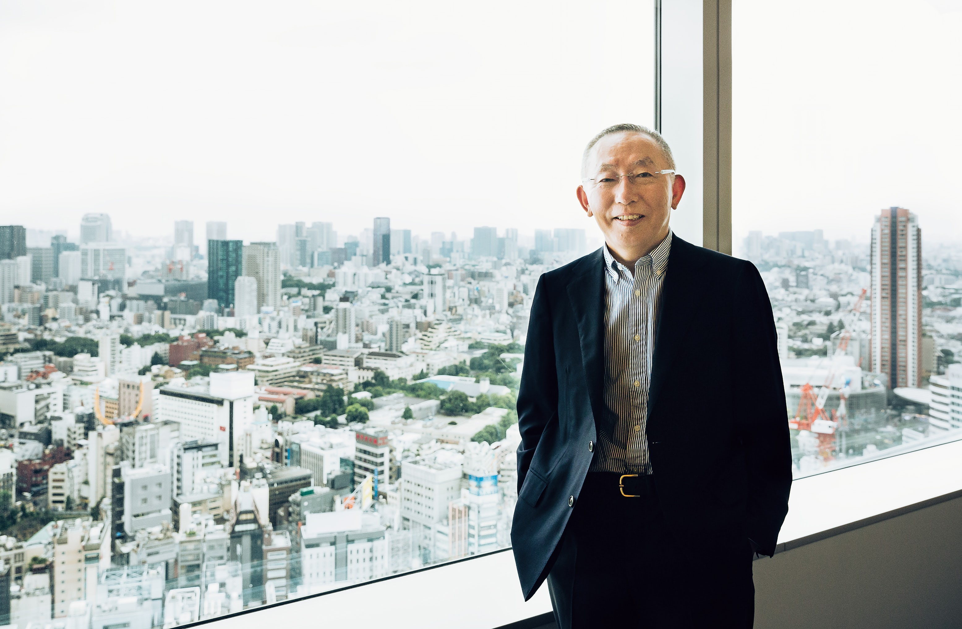 Uniqlo founder Tadashi Yanai at the company's global headquarters in the Tokyo Midtown Tower | Photo: Nik van der Giesen for BoF
